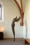 Modern sculpture in prayer chapel